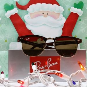 Classic Ray-Ban clubmaster brown tea